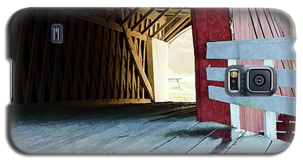 Covered Bridge, Winterset, Iowa Galaxy S5 Case by Wilma Birdwell