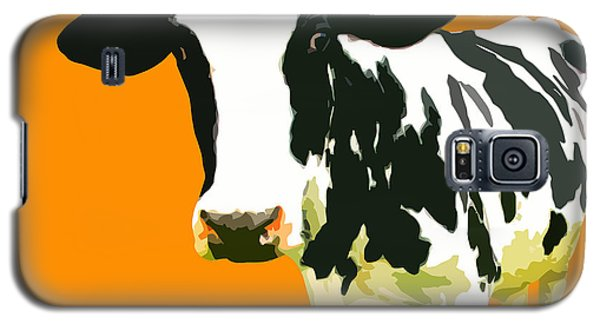 Cow In Orange World Galaxy S5 Case
