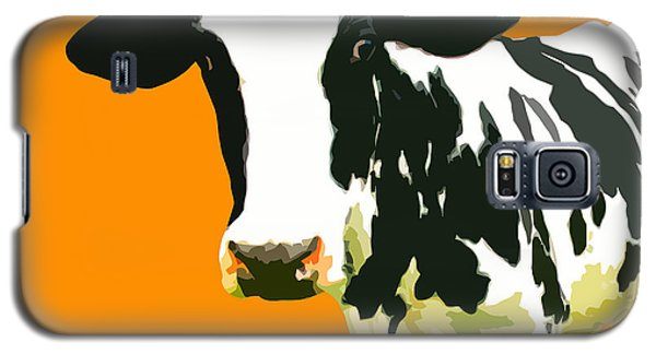Cow Galaxy S5 Case - Cow In Orange World by Peter Oconor