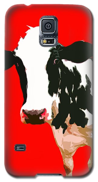 Cow In Red World Galaxy S5 Case