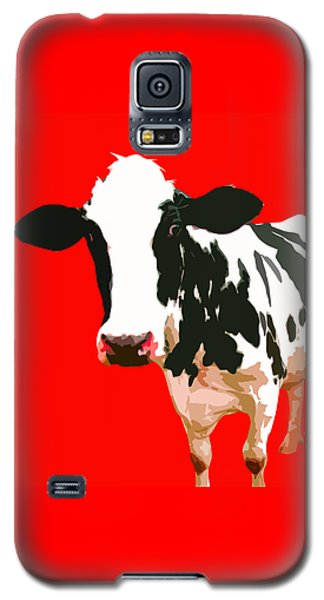 Cow In Red World Galaxy S5 Case by Peter Oconor