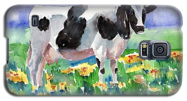 Cow Galaxy S5 Case - Cow In The Meadow by Arline Wagner