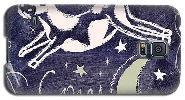 Cow Jumped Over The Moon Chalkboard Art Galaxy S5 Case by Mindy Sommers