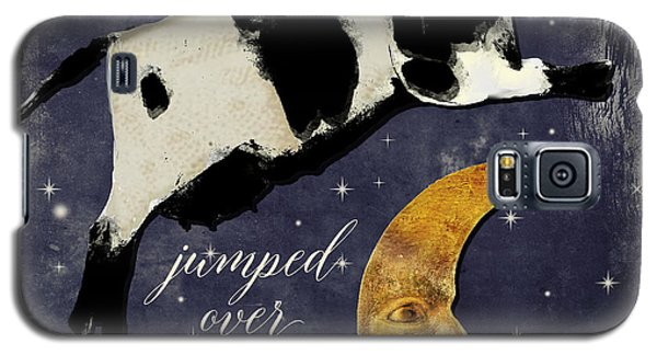 Cow Galaxy S5 Case - Cow Jumped Over The Moon by Mindy Sommers