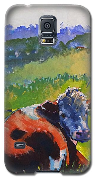 Cow Lying Down On A Sunny Day Galaxy S5 Case