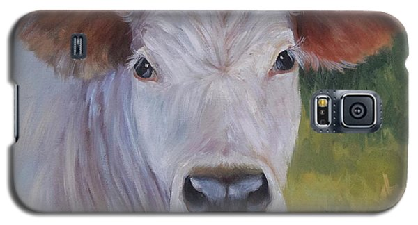Cow Painting Ms Ivory Galaxy S5 Case by Cheri Wollenberg