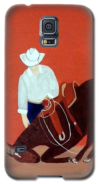 Cowboy And His Horse Galaxy S5 Case