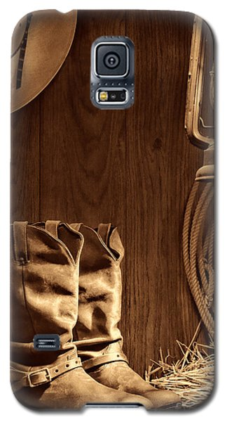 Cowboy Boots At The Ranch Galaxy S5 Case