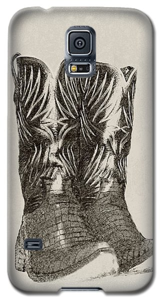 Galaxy S5 Case featuring the photograph Cowboy Boots by Ellen O'Reilly