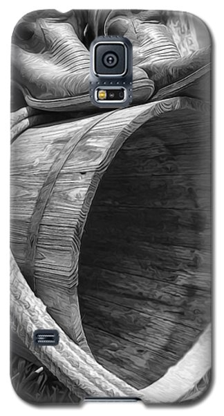 Cowboy Boots In Black And White Galaxy S5 Case