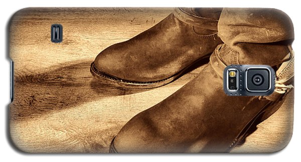 Cowboy Boots On Saloon Floor Galaxy S5 Case