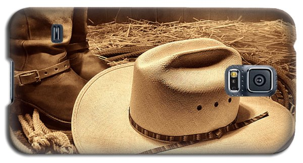 Cowboy Hat On Barn Floor Galaxy S5 Case