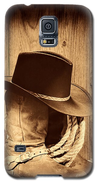 Cowboy Hat On Boots Galaxy S5 Case