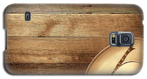 Cowboy Hat On Wood Table Galaxy S5 Case