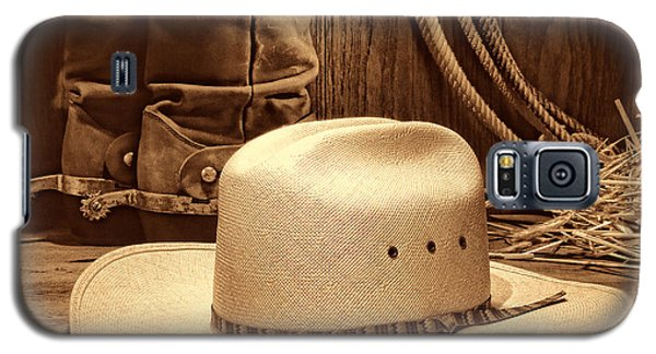 Cowboy Hat With Western Boots Galaxy S5 Case