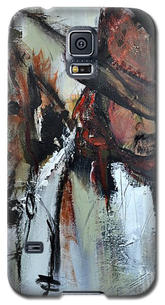 Galaxy S5 Case featuring the painting Cowboy II by Cher Devereaux