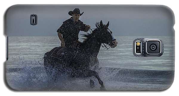 Cowboy Riding In The Surf Galaxy S5 Case
