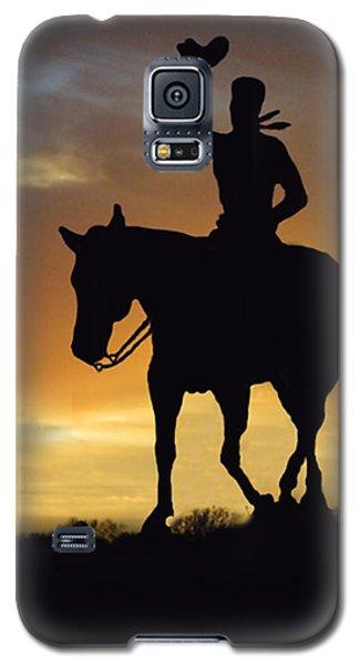 Cowboy Slilouette Galaxy S5 Case by Linda Phelps