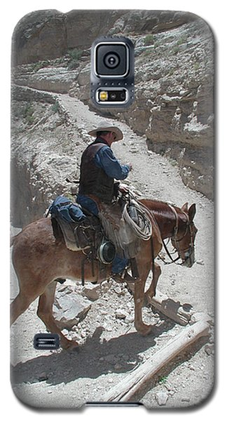 Galaxy S5 Case featuring the photograph Cowboys In The Canyon by Nancy Taylor