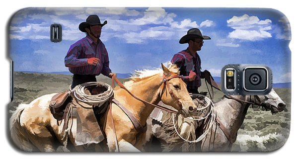 Cowboys On Horseback Riding The Range Galaxy S5 Case