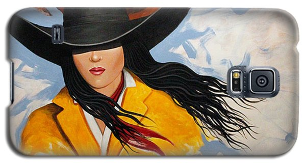 Galaxy S5 Case featuring the painting Cowgirl Colors #3 by Lance Headlee