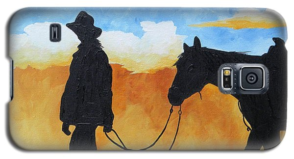 Cowgirl Sunset Galaxy S5 Case
