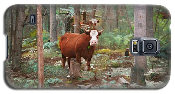 Cows In The Woods Galaxy S5 Case by Joshua Martin