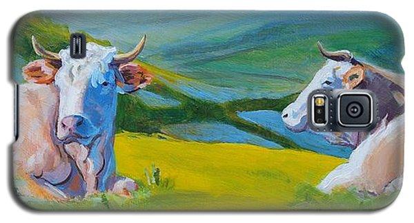 Cows Lying Down In Devon Hills Galaxy S5 Case