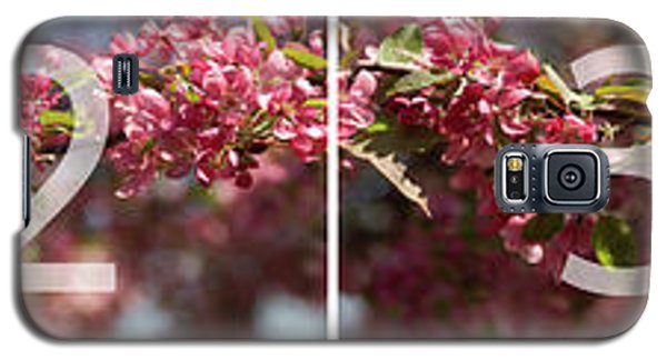 Crabapple In Spring Panoramic Map Galaxy S5 Case