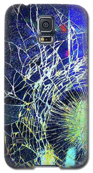 Galaxy S5 Case featuring the mixed media Crack by Tony Rubino