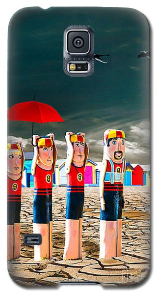 Galaxy S5 Case featuring the photograph Cracked V - The Life Guards by Chris Armytage