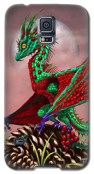 Galaxy S5 Case featuring the digital art Cranberry Dragon by Stanley Morrison