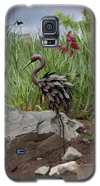 Galaxy S5 Case featuring the photograph Crane by Cherie Duran