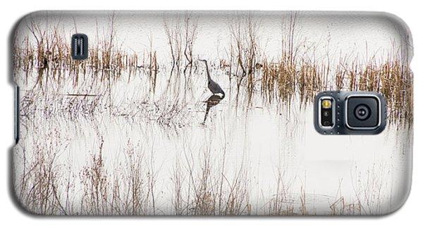 Crane In Reeds Galaxy S5 Case