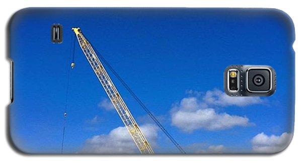 Professional Galaxy S5 Case - Crane On Road Construction Site by Juan Silva