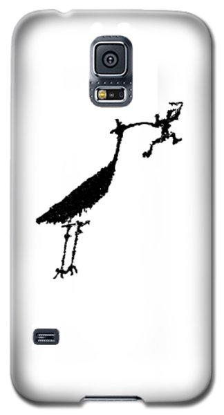 Galaxy S5 Case featuring the photograph Crane Petroglyph by Melany Sarafis