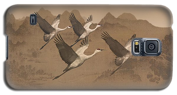 Cranes Migrating Over Mongolia Galaxy S5 Case