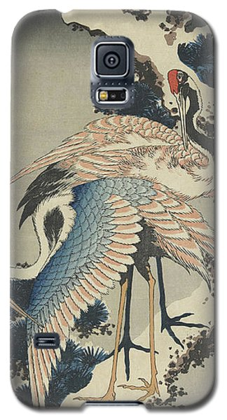 Cranes On Pine Galaxy S5 Case by Hokusai