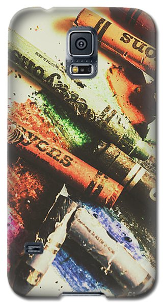 Crash Test Crayons Galaxy S5 Case by Jorgo Photography - Wall Art Gallery