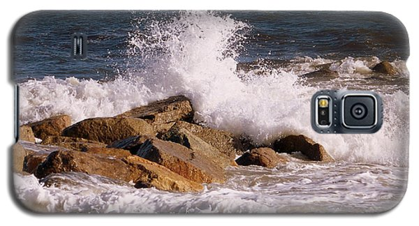 Galaxy S5 Case featuring the photograph Crashing Surf On Plum Island by Eunice Miller