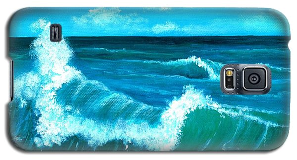 Galaxy S5 Case featuring the painting Crashing Wave by Anastasiya Malakhova