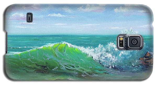 Galaxy S5 Case featuring the painting Crashing Wave by Mary Scott