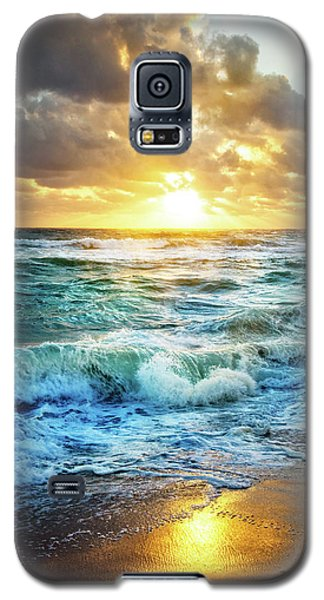 Galaxy S5 Case featuring the photograph Crashing Waves Into Shore by Debra and Dave Vanderlaan
