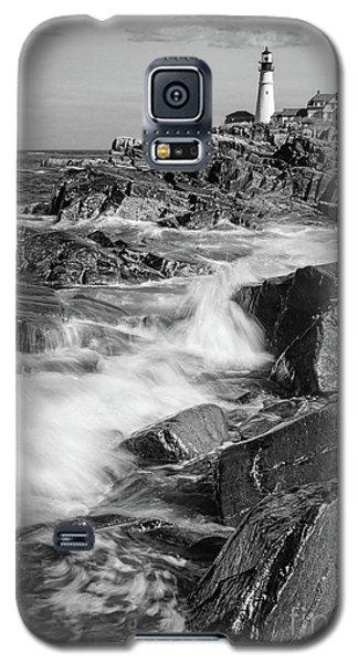 Galaxy S5 Case featuring the photograph Crashing Waves, Portland Head Light, Cape Elizabeth, Maine  -5605 by John Bald