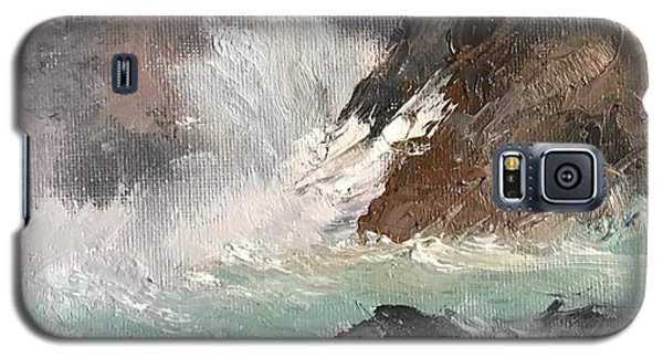 Crashing Waves Seascape Art Galaxy S5 Case