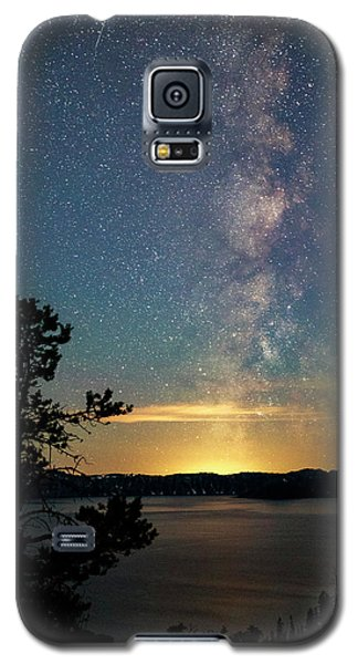 Crater Lake Milky Way Galaxy S5 Case