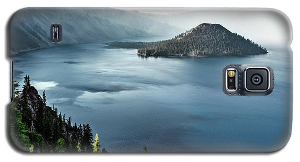 Crater Lake Under A Siege Galaxy S5 Case by Eduard Moldoveanu