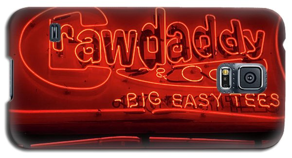 Galaxy S5 Case featuring the photograph Craw Daddy Neon Sign by Steven Spak