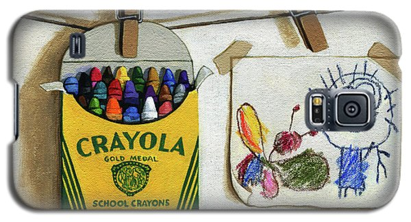 Crayola Crayons And Drawing Realistic Still Life Painting Galaxy S5 Case