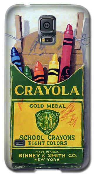 Crayola Crayons Painting Galaxy S5 Case by Linda Apple